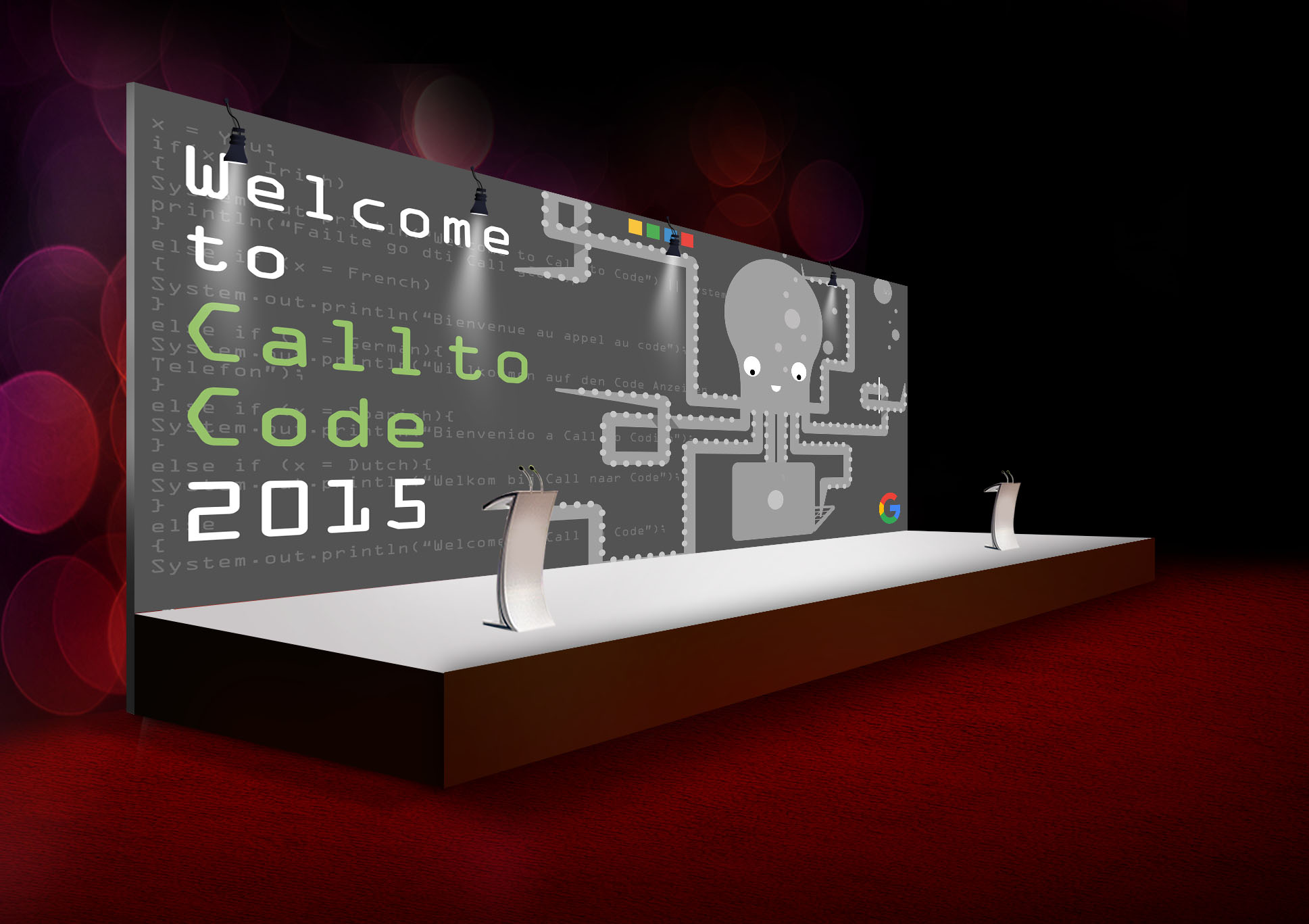 CallToCode Ceremony Backdrop Banner Mockup